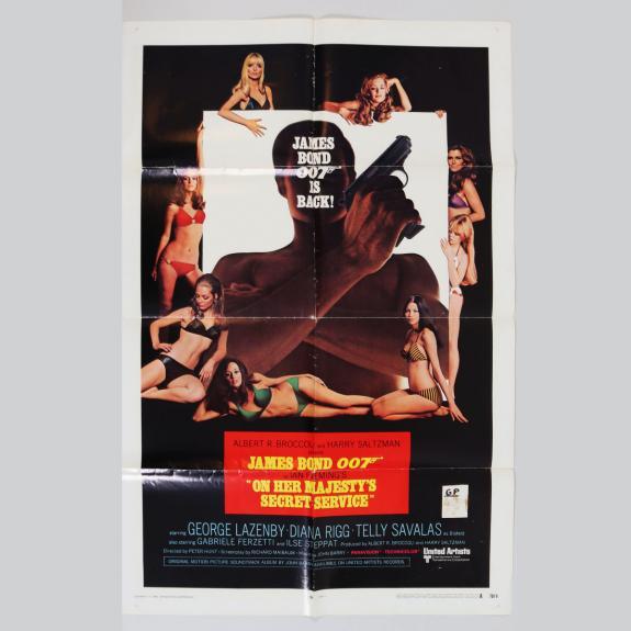 1969 On Her Majesty's Secret Service One Sheet Movie Poster James Bond 70/9