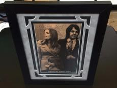 1969 Paul & Linda McCartney Signed Autographed Wedding Photo The Beatles JSA COA