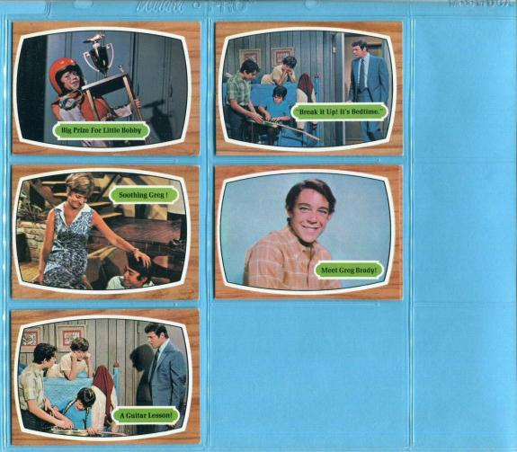 1969 Topps Brady Bunch Starter Set Lot of 5 Different Non Sports Cards EX - EX+