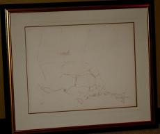 1970 John Lennon, Bag One Framed LE 223/300 Lithograph, Erotic 8, Signed, 30x23