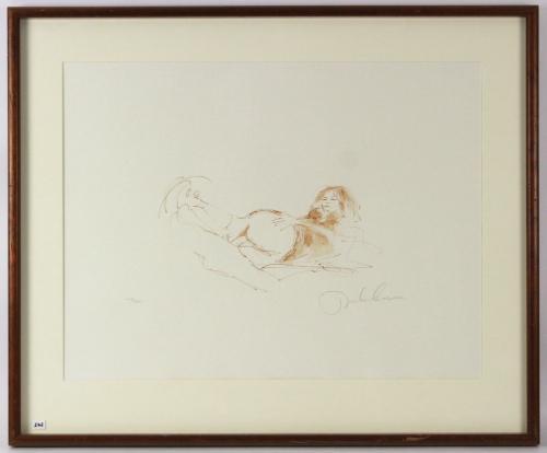 1970 John Lennon, Bag One Framed LE 236/300 Lithograph, Erotic 7, Signed, 28x21