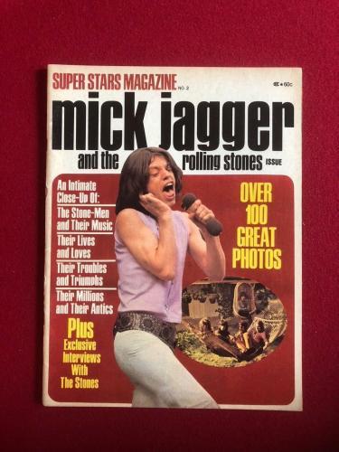 1970, Mick Jagger & The Rolling Stones Magazine (No Label) Scarce