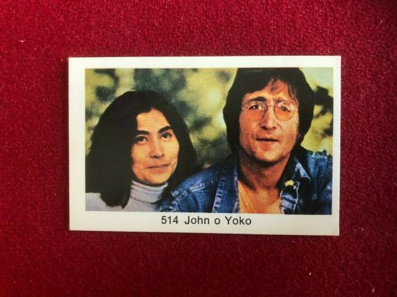 "1970's, BEATLES, ""Swedish POP Stars Cards"" (Scarce) John Lennon / Yoko Ono"