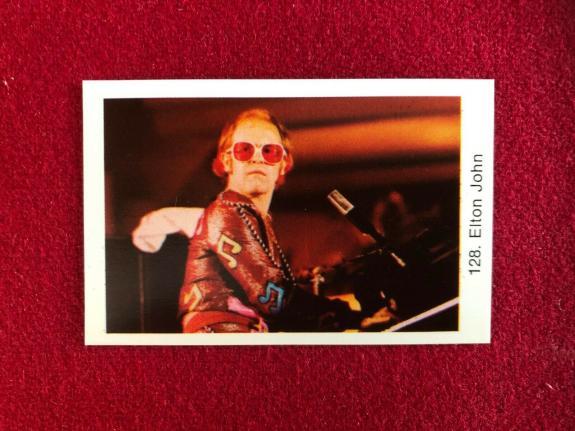 "1970's, Elton John, ""Swedish POP Stars Card"" (Scarce / Vintage)"