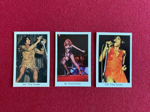 "1970's, Tina Turner, (3) ""Swedish POP Stars Cards"" (Scarce / Vintage)"