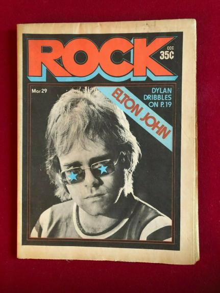 "1971, Elton John, ""ROCK"" Newspaper Magazine (No Label) Scarce / Vintage"