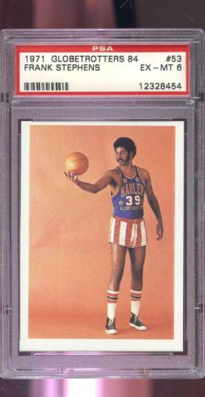 1971 Fleer Harlem Globetrotters 84 #53 Frank Stephens PSA 6 Graded Card