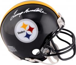 Signed Terry Bradshaw Mini Helmet - Riddell Mounted Memories