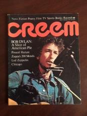 "1972, Bob Dylan, ""CREEM"" Magazine (No Label) Scarce"