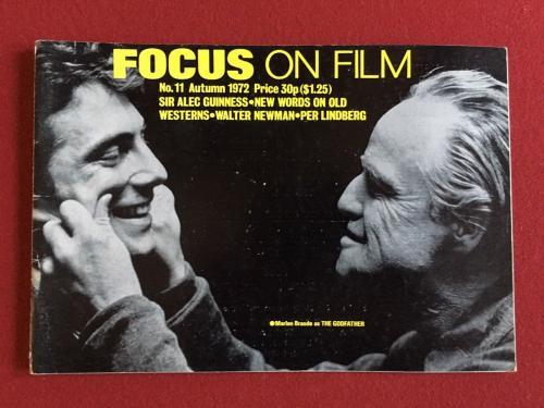 "1972, The GODFATHER, (Marlon Brando) ""Focus on Film"" Magazine (Scarce)"