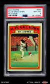 1972 Topps #694 Alan Gallagher - In Action Giants PSA 8 - NM/MT