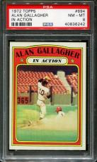 1972 Topps In Action #694 Alan Gallagher Psa 8 B2578118-242
