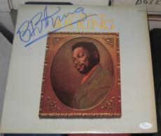 1973 B.b. Bb King Blues Legend Signed Best Of Album Record Jsa/coa Autographed