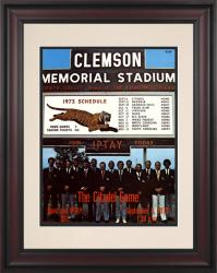 1973 Clemson Tigers vs Citadel Bulldogs 10 1/2 x 14 Framed Historic Football Poster - Mounted Memories