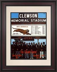 1973 Clemson Tigers vs Citadel Bulldogs 10 1/2 x 14 Framed Historic Football Poster