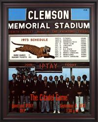 1973 Clemson Tigers vs Citadel Bulldogs 36x48 Framed Canvas Historic Football Poster