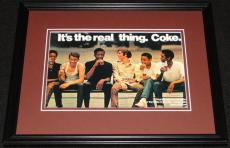 1973 Coca Cola Coke The Real Thing Framed 11x14 Poster Display Official Repro