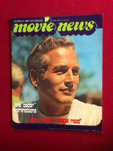 "1973, Paul Newman, ""Movie News"" Magazine (Scarce / Vintage)"