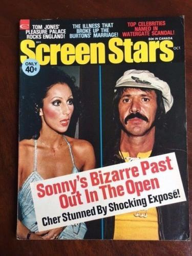 "1973 Sonny & Cher, ""Screen Stars"" Magazine (No Label)"