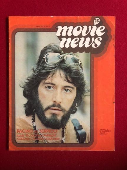 "1974, Al Pacino, ""Movie News"" Magazine (Scarce) No Label"