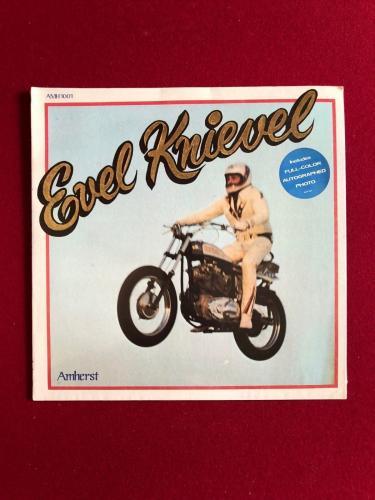 "1974, Evel Knievel, ""Un-Opened"", LP Record w/ Photo (Scarce)"