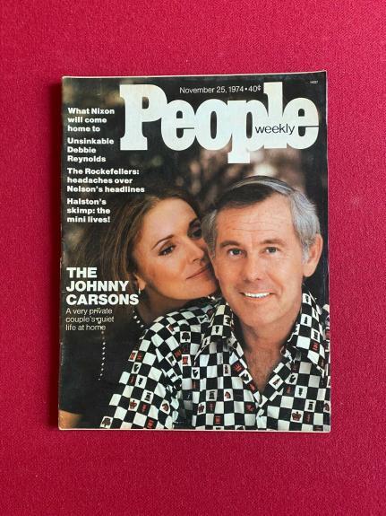 "1974, Johnny Carson, ""People"" Magazine (No Label) Scarce / Vintage"