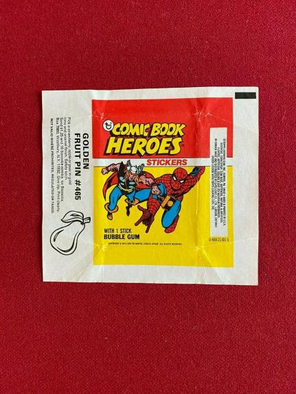 """1974, """"MARVEL"""", """"COMIC BOOK HEROES"""" Sticker Wrapper (Scare / Vintage) """"TOPPS"""