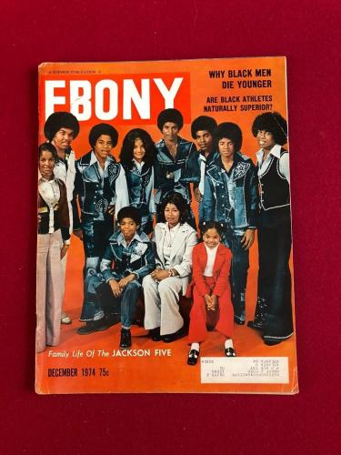 "1974, Michael Jackson (JACKSON FIVE), ""EBONY"" Magazine (Scarce)"