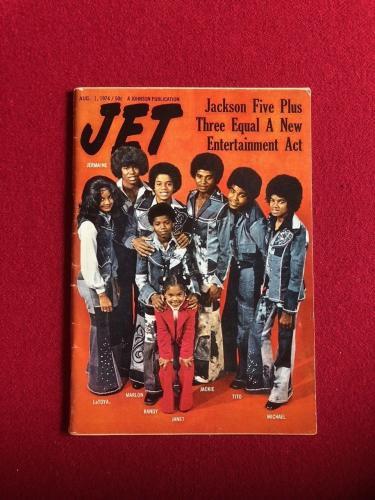"1974, Michael Jackson (The Jacksons), ""JET"" Magazine (No Label) Scarce (Janet)"