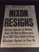 1974 Nixon Resigns Vintage Newspaper