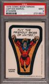 1975 Comic Book Heroes Stickers Captain Marvel Psa 9 N2476149-523