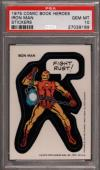 1975 Comic Book Heroes Stickers Iron Man Pop 10 Psa 10 N2447065-189