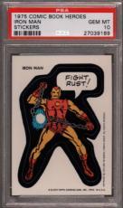 1975 Comic Book Heroes Stickers Iron Man Pop 10 Psa 10 N2447065-189