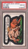 1975 Comic Book Heroes Stickers Ka-zar Pop 9 Psa 10 N2436252-485