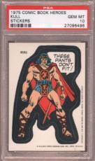 1975 Comic Book Heroes Stickers Kull Psa 10 N2436232-496