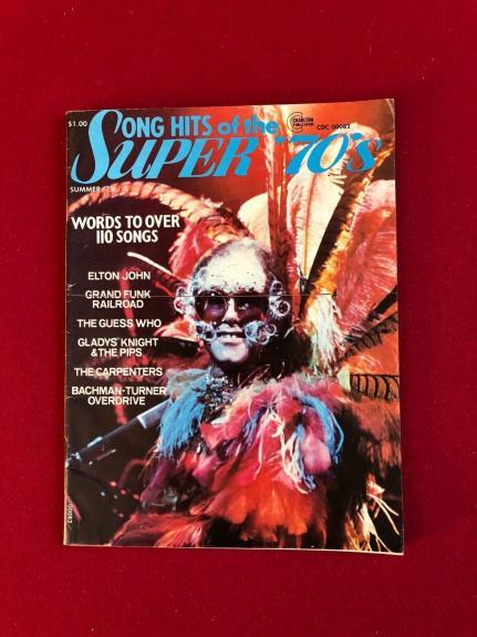 "1975, Elton John, ""Song Hits Super 70's"" Magazine (No Label) Vintage / Scarce"