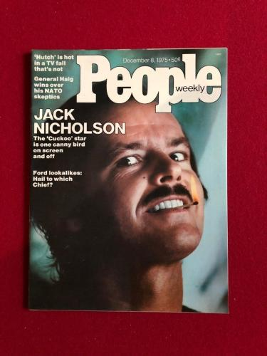 "1975, Jack Nicholson, ""People"" Magazine (No Label) Scarce"