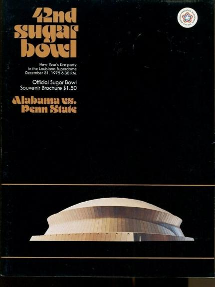 1975 Sugar Bowl Program Alabama v Penn State 12/31 Superdome Ex/MT 68543