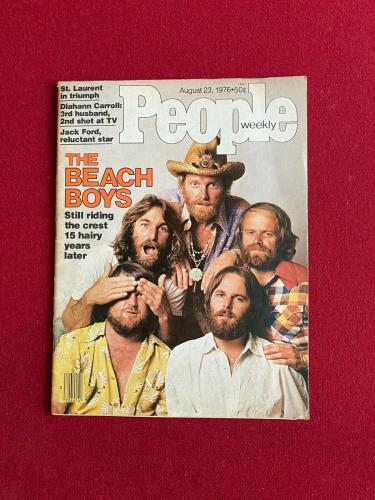 "1976, Beach Boys, ""People"" Magazine (No Label) Scarce / Vintage /  Mike Love"