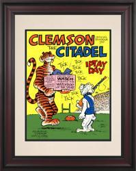 1976 Clemson Tigers vs Citadel Bulldogs 10 1/2 x 14 Framed Historic Football Poster