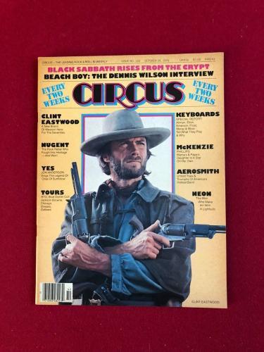 "1976, Clint Eastwood, ""CIRCUS"" Magazine (No Label) Vintage / Scarce"