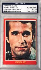 1976 Happy Days Henry Winkler The Fonz Signed Auto Card #29a PSA/DNA
