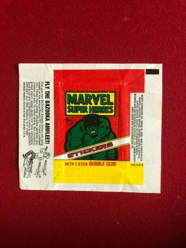 1976, Incredible HULK (MARVEL) TOPPS Trading Card Wrapper (Vintage)
