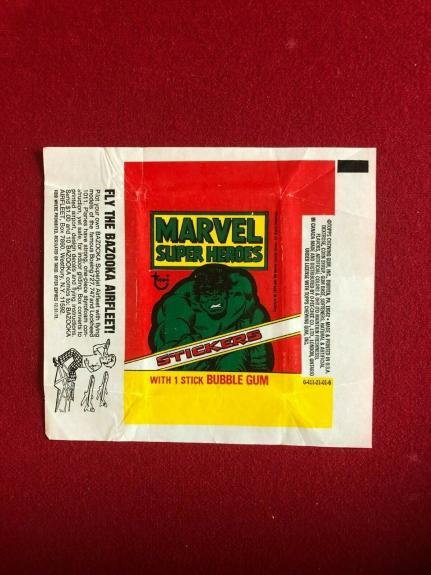 1976, Incredible HULK (MARVEL) TOPPS Trading Card Wrapper (Vintage)