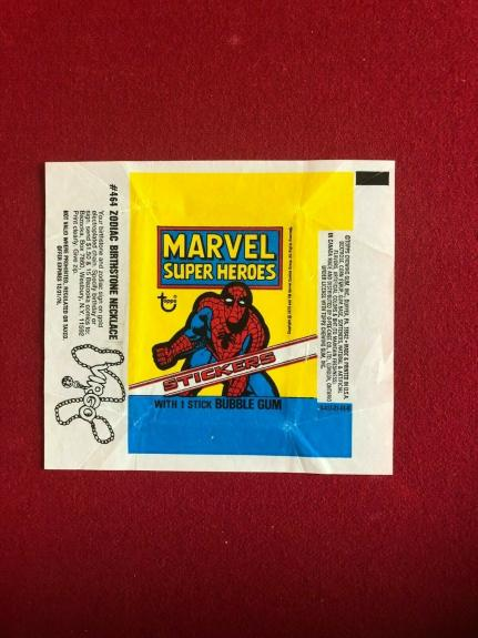 1976, SPIDER-MAN (MARVEL) TOPPS Trading Card Wrapper (Vintage)