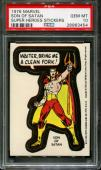 1976 Super Heroes Stickers Son Of Satan Pop 9 Psa 10 N2558394-454