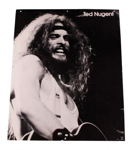 1976 Ted Nugent Live Concert Promo store display 24x20 from him AFTAL