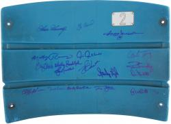 1977-1978 New York Yankees Autographed Limited Edtion Old Yankee Stadium Seatback with 18 Signatures