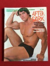 """1977, Arnold Schwarzenegger, """"AFTER DARK"""" Magazine (No Label)"""