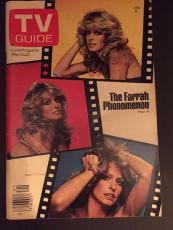 "1977 Farrah Fawcett, ""TV Guide"", (No Label)"